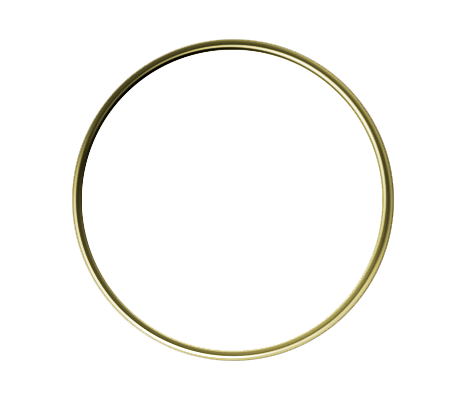Circle Gold 1 Inch Lapel Pin
