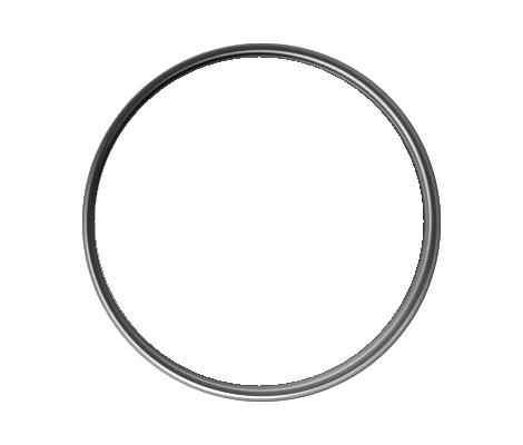Circle Silver 1 Inch Lapel Pins