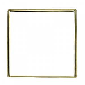 Square Gold 1 Inch Lapel Pin