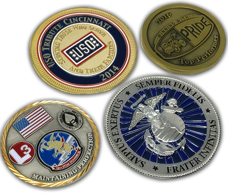 Challenge Coins Military Police Fire