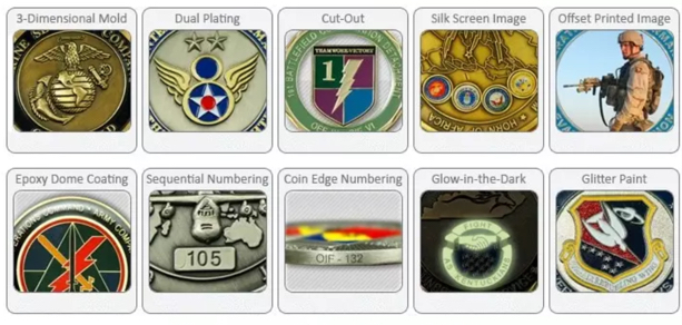 challenge coin styles